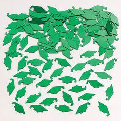 Mortarboard Green Confetti/Case of 12
