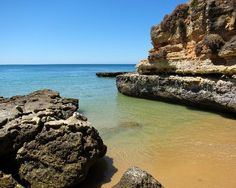 Olhos d'Agua, Portugal - quite a rocky place, but it had a beautiful beach