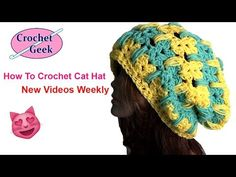How to Make Crochet Cat Hat Tutorial Left Hand