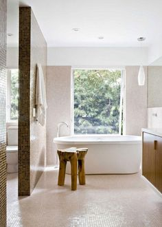 Cool Residence Interior Design By Jamie Bush & Co. : Residence Interior Design By Jamie Bush & Co With White Bathroom Wall And Bathtub And T. Mid Century Modern Bathroom, Modern Bathroom Design, Bathroom Designs, Bathroom Ideas, Bad Inspiration, Bathroom Inspiration, Dream Bathrooms, Beautiful Bathrooms, Chic Bathrooms