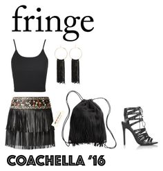 """""""Festival Trend: Fringe"""" by stephicidal ❤ liked on Polyvore featuring Topshop, Valentino, H&M and Bebe"""