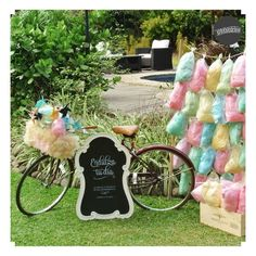 """Candy cotton station"" con bici"