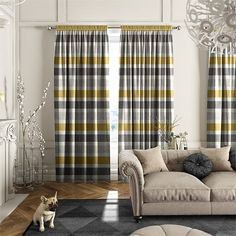 Cardigan Stripe Linen Flax Grey Curtains Small Curtains, Long Shower Curtains, Cheap Curtains, Grey Curtains, Hanging Curtains, Bedroom Curtains, Custom Made Curtains, Made To Measure Curtains, Curtain Styles