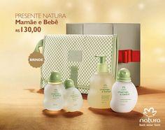 Presente Natura Mamãe e Bebê - Água de Colônia + Sabonete Líquido + Condicionador + Trocador + Embalagem Desmontada