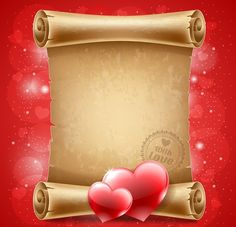 Buy Congratulation on Valentine's Day by mari_pazhyna on GraphicRiver. Congratulation on Valentine's Day on vintage scroll Stampin Up, Decoupage, Minnie Png, Old Letters, Frame Background, Frame Clipart, Borders And Frames, Snowflake Pattern, Writing Paper
