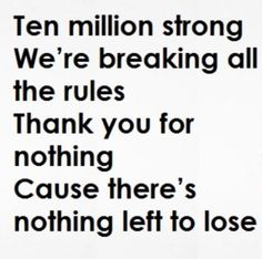 Love these lyrics from Thank You by MKTO