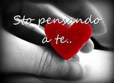 Sto pensando a te. Italian Memes, Italian Quotes, Mon Cheri, Lisa Nichols, Spanish Inspirational Quotes, Love Pain, Short Messages, I Love You, My Love