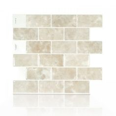 Mosaic Vase, Mosaic Wall Tiles, Mosaic Backsplash, Kitchen Backsplash, Backsplash Ideas, Smart Tiles Backsplash, Stone Backsplash, Kitchen Cabinets, Stick On Wall Tiles