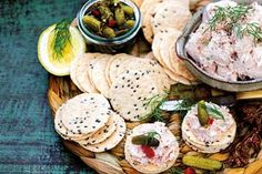 Smoked fish pate with gherkins and dill