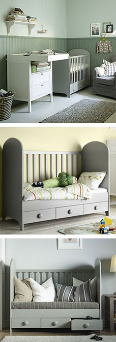 Furniture that grows with your children, like the GONATT crib, can be part of their lives for years and years. So, while they grow up fast, they don't have to grow out of everything so quickly.