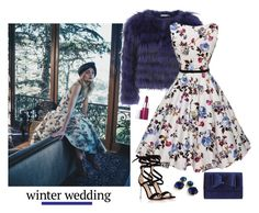 """True Romance: Winter Wedding - Polyvore Contest"" by helen5526 ❤ liked on Polyvore featuring Clinique, Alice + Olivia, Gianvito Rossi, J.Crew, INC International Concepts, polyvorestyle, polyvorecontest, winterwedding and WeddingInspiration"