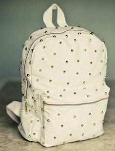 Mochila de Spike Crua Canvas Backpack, Backpack Purse, Fashion Bags, Fashion Backpack, Valentino Bags, Cute Backpacks, Denim Bag, Womens Purses, Cute Bags