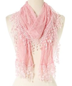 This Pink Lace Scarf is perfect! #zulilyfinds