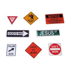 36-pack Christian Road Sign Temporary Tattoos