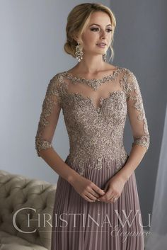 DressilyMe Bridal Dresses Online,Wedding Dresses Ball Gown, exquisite tulle chiffon scooneckline floor length a line mother of the bride dresses with beaded lace appliques Mob Dresses, Ball Dresses, Ball Gowns, Evening Dresses, Bridesmaid Dresses, Dresses With Sleeves, Wedding Dresses, Party Dresses, Tunic Dresses
