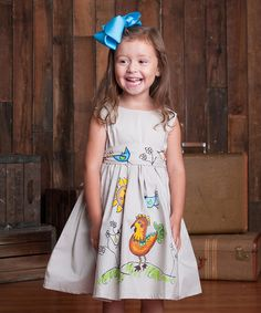 Look what I found on #zulily! Putty Rooster Fit & Flare Dress - Toddler & Girls #zulilyfinds