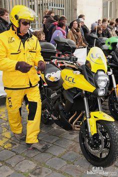A more suitable motorbike for the blackboard crew  © Robin Wilmott/BikeRadar