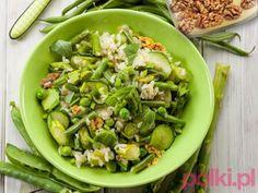 Zielona sałatka z cukinią - przepis na #polkipl #dinner #easter #wielkanoc #polishcuisine