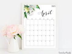 2021 Calendar Watercolour Calendar 2021 Botanical Wall | Etsy Wall Calendars, 2021 Calendar, Floral Wall, Watercolour, Printables, Artwork, Prints, Etsy, Design