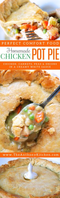 Best Chicken Pot Pie | How to make a perfectly cooked chicken pot pie with real ingredients and no cans! | #homemade #chickencasserolerecipe #chickendinnertimerecipe #chickenrecipe #casserolerecipes #chickenpotpie