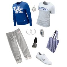 Kentucky Game Day Outfit, created by deanaspicks (me)