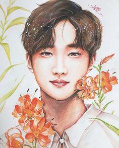 Jinyoung_ fan art_ cr on pic B1a4 Jinyoung, Jung Hyun, Bo Gum, Kpop Fanart, Bigbang, Ulzzang, Singer, Fan Art, Jin Young