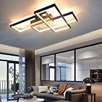 Gbly Led Deckenleuchte Dimmbar Modern Deckenlampe Schwarz