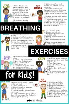 Mindfulness Breathing Exercises For Kids: Tools for Teachers in Classroom or for Parents at Home - Breathing techniques - Mindfulness For Kids, Mindfulness Activities, Mindfulness Training, Mindfulness Benefits, Teaching Mindfulness, Mindfulness Techniques, Mindfulness Exercises, Mindfulness Practice, Yoga Exercises