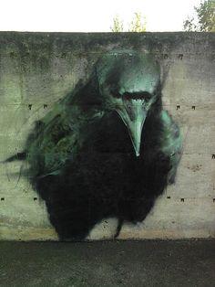 Der aus Spanien kommende Streetartist Mesa (mehr in seinem flickr-Pool) hat ähnlich wie El Mac einen fast hyperrealistischen Stil drauf.