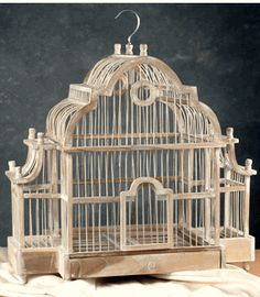 """Large Teak Bird Cage 21"""" x 20"""": Not sure how I would use this, but I love it."""