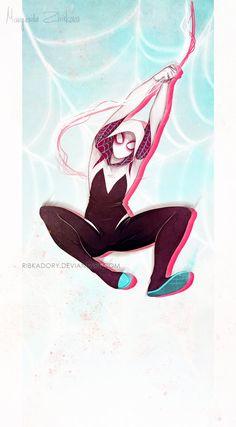 It's Our Turn, Ladies by ribkaDory #SpiderGwen #Spiderman Marvel Comic Universe, Comics Universe, Marvel Avengers, Marvel Heroes, Superhero Villains, Marvel Characters, Superheroes, Mundo Comic, Spider Girl