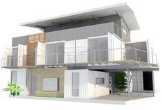 Shipping Container Residential Home     This one uses seven containers.
