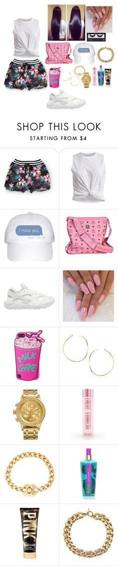 """......."" by daya-dciii ❤ liked on Polyvore featuring love, FiRE, VILA, MCM, NIKE, Lana, Nixon, Chanel, Victoria's Secret, Michael Kors and BBrowBar"