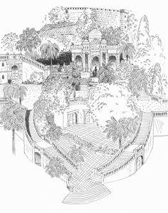 Sketch by Pierre dubois - Cerro santa lucía Cerro Santa Lucia, Dubois, Vintage World Maps, Sketch, Design Inspiration, Illustrations, Drawing, Art, Drawings