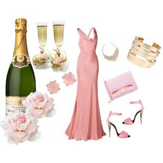 Pink Champagne, created by jeanstapley on Polyvore