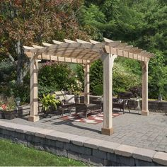 The pergola kits are the easiest and quickest way to build a garden pergola. There are lots of do it yourself pergola kits available to you so that anyone could easily put them together to construct a new structure at their backyard. Vinyl Pergola, Pergola Garden, Modern Pergola, Pergola Canopy, Pergola Swing, Deck With Pergola, Cheap Pergola, Covered Pergola, Outdoor Pergola