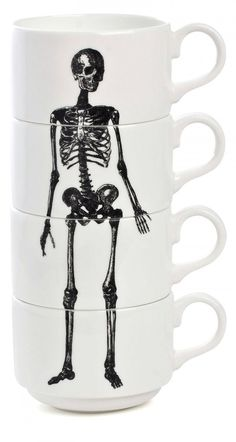 Stackable skeleton espresso set from Wolf and Badger.