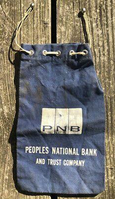 Canvas Bank Money Bag First National Bank Wichita Kansas 4 Vintage Money Bag Bank Money Bag Wichita Kansas