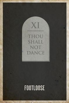 Footloose Minimalist Poster by Matt Owen
