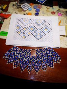 Beaded Jewelry, Diy Jewelry, Pretty Cool, Diy Tutorial, Seed Beads, Collars, Jewels, Stitch, Creative