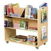 Found it at Wayfair - School Library Cart  I would like to have one of these for the future grandchildren's room even if it is a school cart. Could be painted and moved!