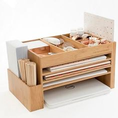 Wood Desk Accessories Home Office Storage Desk Sets Docking