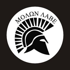 Molon Labe Spartan Helmet Decal