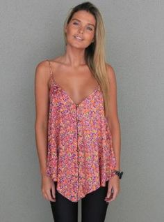 Floral Fever Singlet Top by jacquelyn
