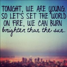 """""""We Are Young"""" by Fun"""
