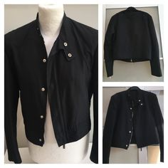 Collector & Great YSL Rive Gauche Hedi Slimane Motorcycle Cropped Silk Jacket | eBay
