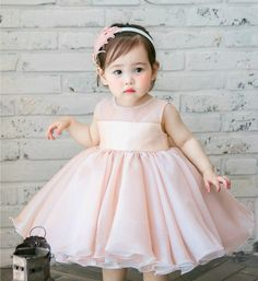 Light Pink Party Dress-Simple & Cute Light Pink Pearl Applique Baby Girl Party Dress - Available from Newborn - 15 Years. #lightpinklittelgirlpartydress #lightpinkflowergirldress #pinkflowergirldresses #childrendress #kidsfashion