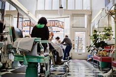 old fashioned barbershop. I have to go here...