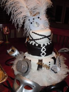 Mascarade cake I did for a double birthday party.
