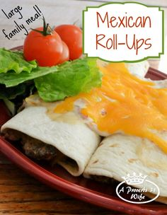 What is in this wonderful beef recipe for large families? Mexican beef roll-ups with whole food ingrediants. Healthy and tasty!